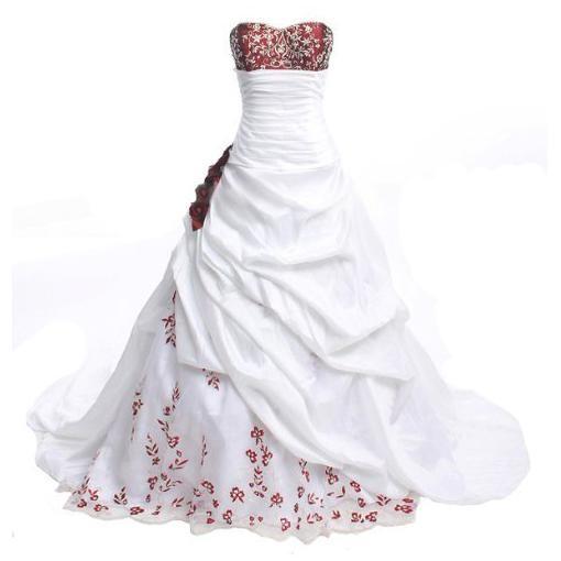 Discount Stunning White And Burgundy Wedding Dress Vintage Handmade  Appliques Off Shoulder Satin A Line Bridal Gowns Vestido De Noiva Cheap  Online Wedding