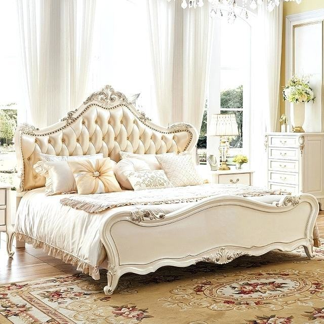 shocking luxury antique hand carved wood king size bed gold leaf bedroom  furniture for new
