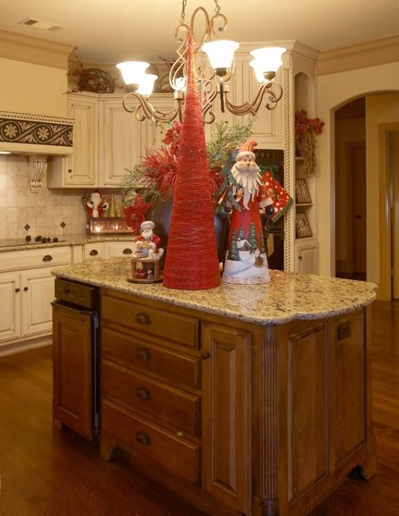 kitchen cabinet decor top of above cabinets full size baskets christmas  decorating ideas