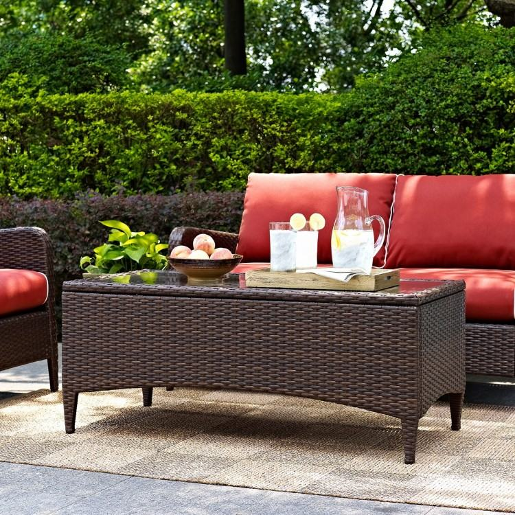 Crosley Palm Harbor Outdoor Wicker Bistro Table in Brown from Bed Bath &  Beyond at SHOP