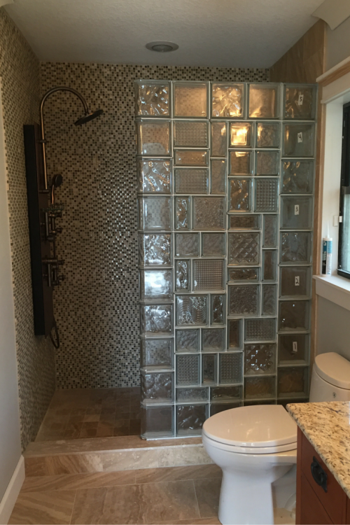 Glass Block Wall Bathroom Home Design Ideas And Pictures Shower  Installation Loft