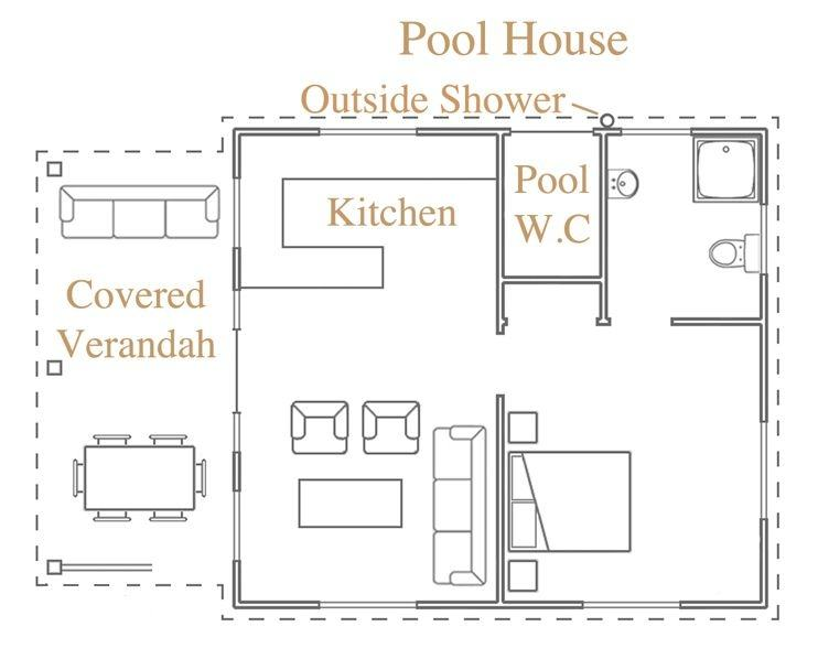 Guest House Pool Plans  Luxury Home Plan Floor Cabana