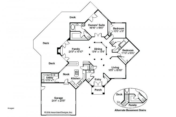 6 bed, 6,000 square foot Exclusive House Plan 73357HS comes with a sort  court in the finished lower level