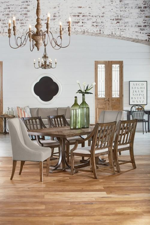 Large Images of Rustic Hickory Dining Chairs Blossom Dining Chairs  Thomasville Pecan Dining Room Set Pecan