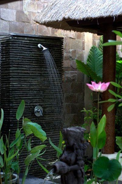 outdoor shower bali