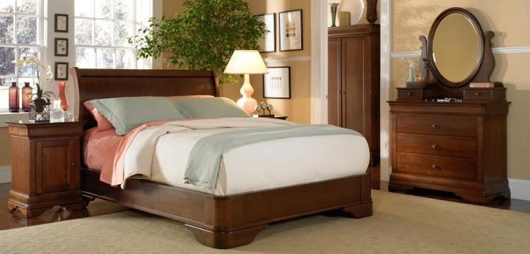 Flexsteel Wynwood Collection PlymouthKing Headboard and Footboard Bed