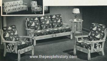 Item #Q112 Vintage Five Piece Teak & Maple Dining Set c