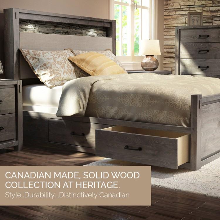 Image 4 : 5 Pc Palliser Bedroom Set w/2 Dressers, Nightstands