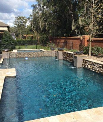 All Seasons Pools, an Orlando custom pool builder with locations in Brandon  and Sanford, shares one of the thousands of custom pool projects they've