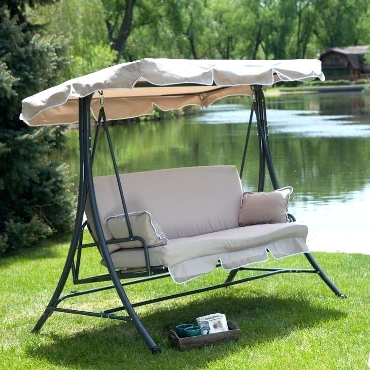 mainstays belden park 3 person canopy porch swing bed red coral coast  siesta home beds