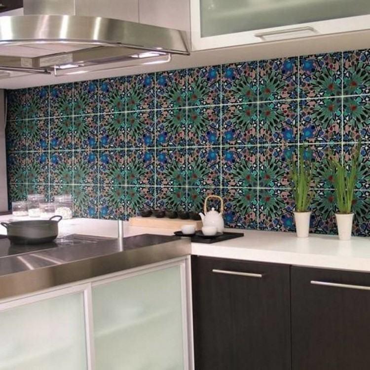 Patterned Kitchen Backsplash Tile Best Pattern Wall Makeover Updating