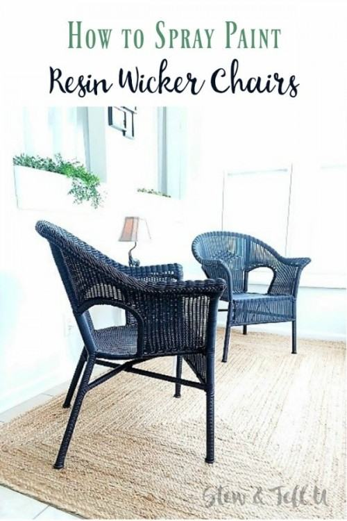 repainting wicker furniture