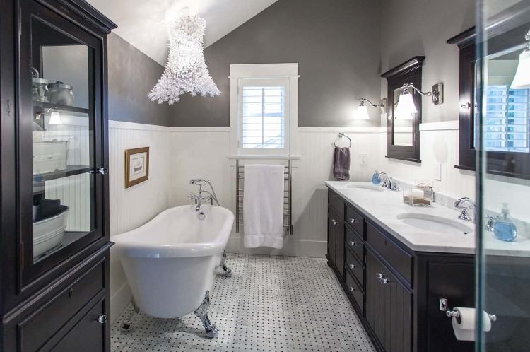 Black  And Gray Bathroom Plans