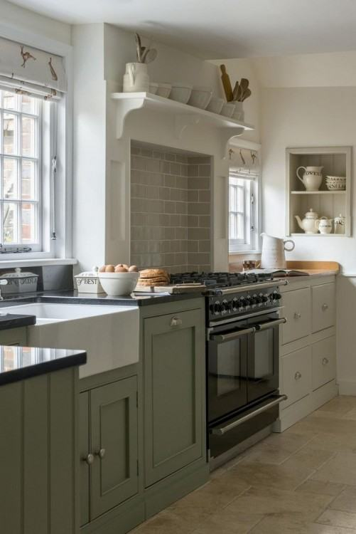 Kitchen Style Ideas Medium size Cottage Style Traditional Kitchen  French Country English Kitchens Interior Design Ideas