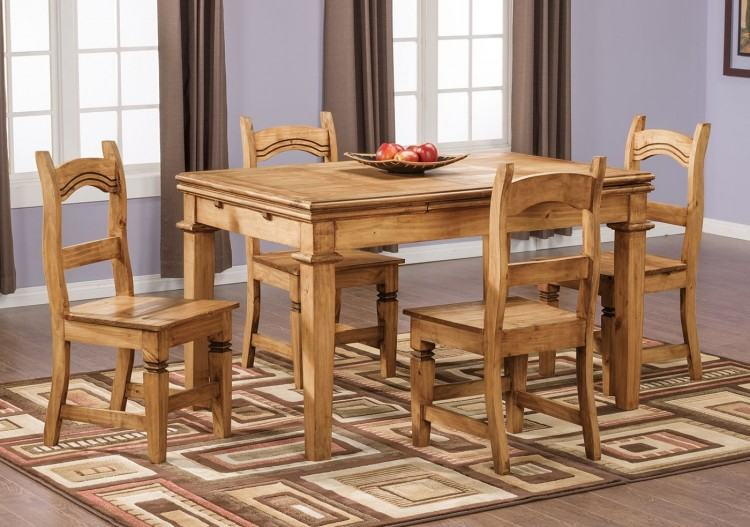 Gorgeous Image Of Rustic Pine Dining Table For Dining Room Design Ideas  : Divine Furniture For