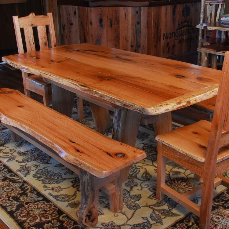 Saranac Hickory Stump Dining Table