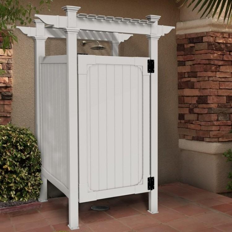 vinyl outdoor shower