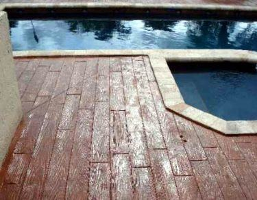stamped concrete pool deck designs