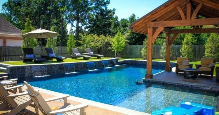 pool design ideas with slide backyard landscaping swimming