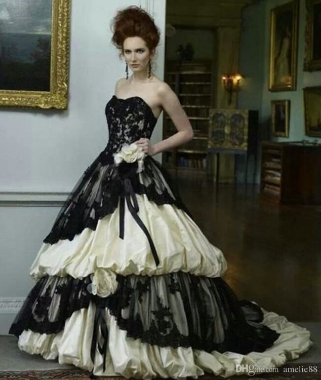 How to Incorporate Black into a Traditional White Wedding  Dress