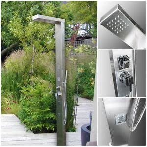 316 Marine Grade Stainless Steel Massage Outdoor Shower Panel  (BRIGHTON) Swimming Pool Backyard Bathroom