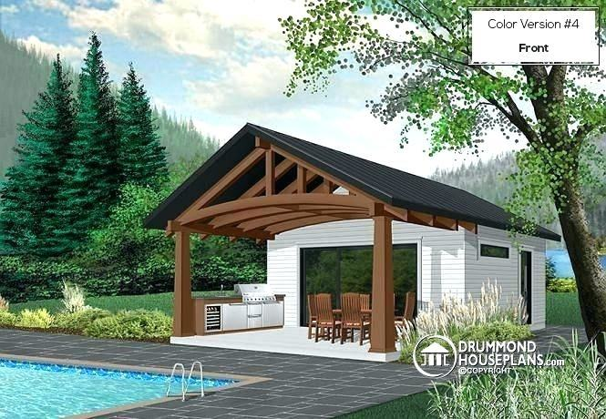 Pool Cabana Plans with Bathroom Outdoor Kitchen with Pool Best Swimming  Pool Cabana Designs Home