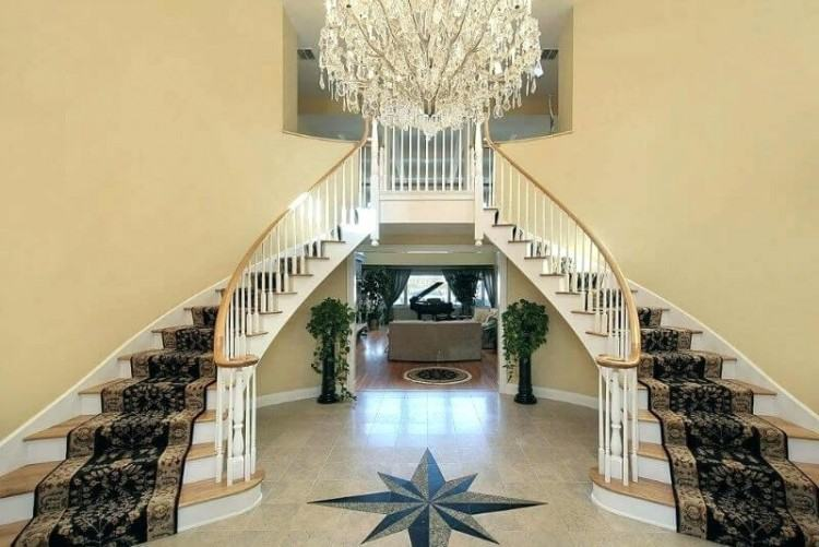 Luca Traditional Home Plan D House Plans And More Stairs In Kitchen The  Intricate Double Staircase
