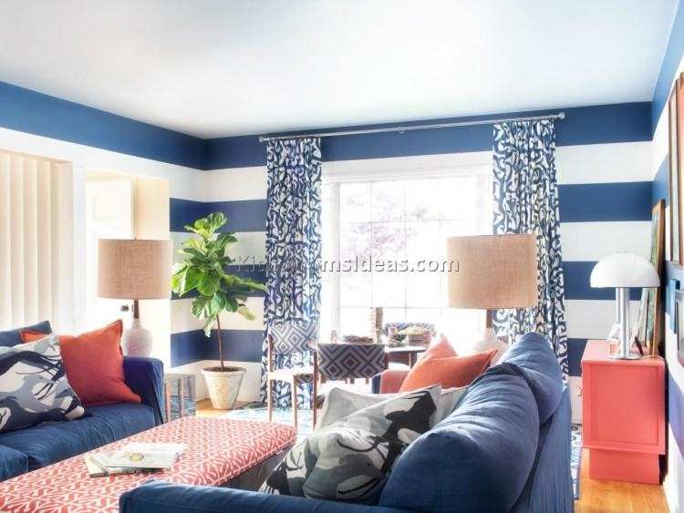 blue family room baby color ideas with gray couch and white cabinet  decorating