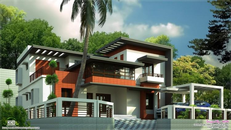 3 bedroom modern house plan in an area of 1838 square feet by Rit designers,  Kannur, Kerala