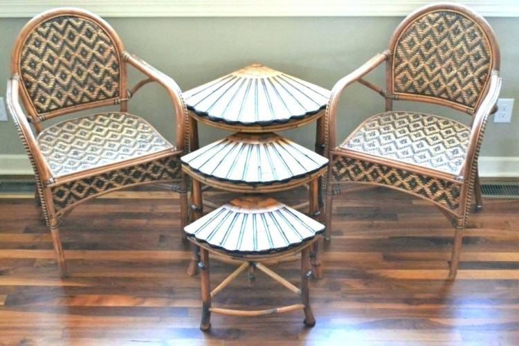 Cast Aluminum Patio Furniture: Metal Bamboo Bistro Set   Gardeners