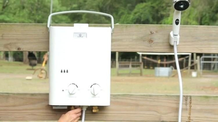 portable outside shower outside