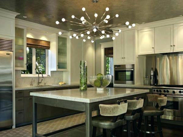 industrial kitchen cabinets modern with globe pendant
