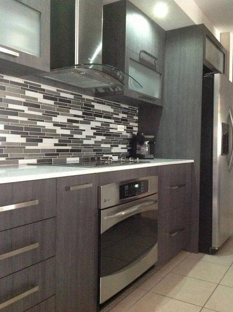 Top Notch Kitchen Decoration Design Ideas Using Black Tin Kitchen  Backsplash : Inspiring L Shape Kitchen