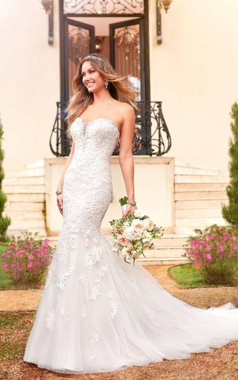Louisa Ribbon Tapework Wedding Dress, £750