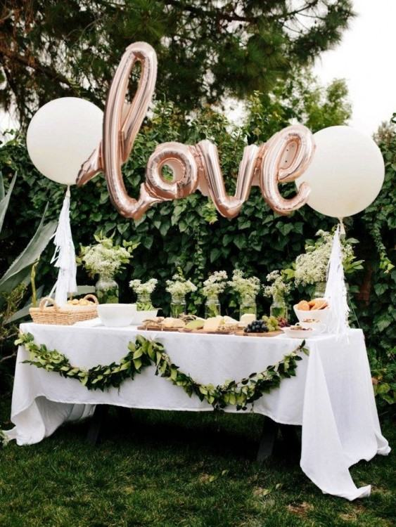 Full Size of Party Decor Ideas:green And White Themed Fabulous Decorating  Idea For Outdoor