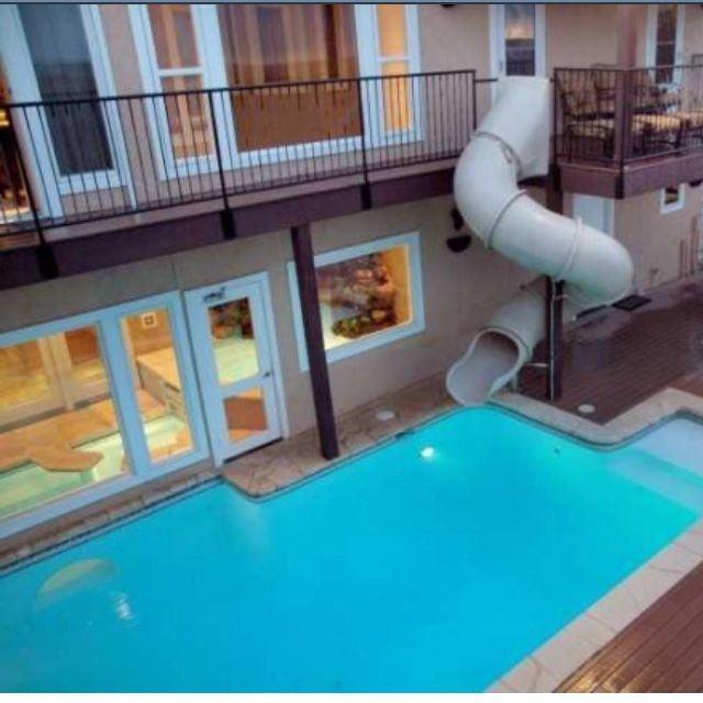 fantastic pool designs with slides