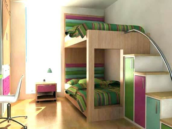 Fascinating Child Closet: Answer for Children Clutters: Bright Modern Kid's  Bedroom Design With Darkwood