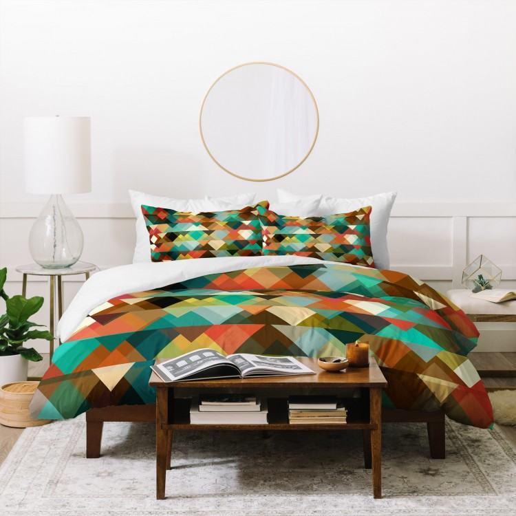 5 white oak  double bed minimalist rustic bedroom