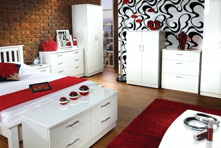 Aztec High Gloss White Bedside Table