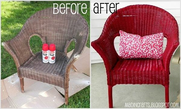 wicker furniture makeover outdoor