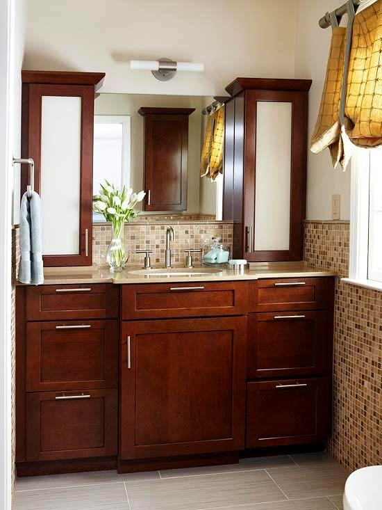 Two Tone Bathroom Cabinets Best White Vanity Ideas On Painted