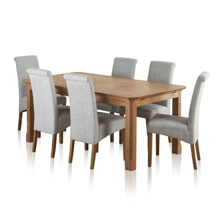 Impressive Solid Oak Extending Dining Table And 6 Chairs Solid Oak  Extending Dining Table And 6