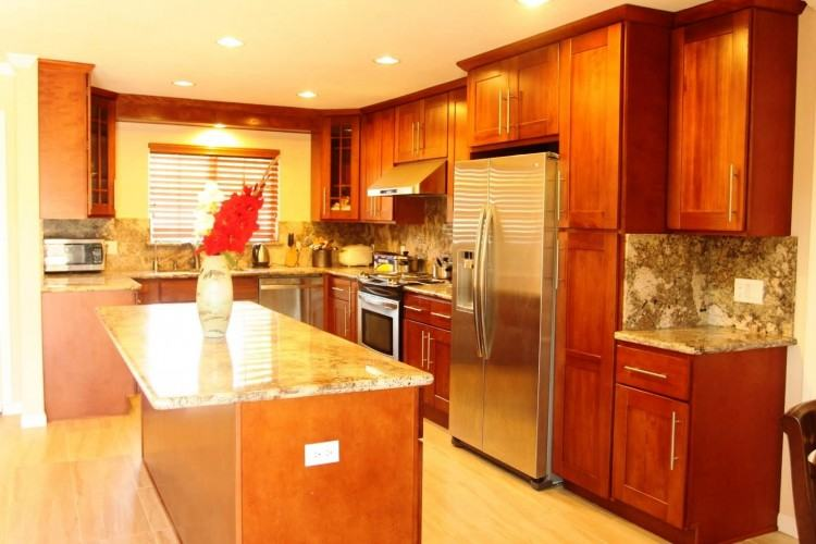 Decoration Light Oak Kitchen Cabinets Colors Grey Walls Cherry Backsplash  Ideas Dark Color Cabinet Wood Yellow White Designs Gallery Popular Decor  Matt