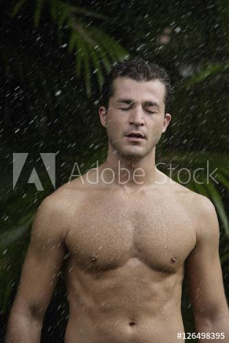 naked outdoor shower respite with the workout over and grabbed their towels  and headed to home