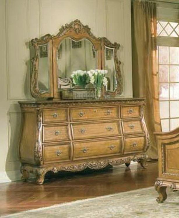 Versailles Velvet and Antique Platinum Upholstered Panel Bedroom Set Media  Gallery