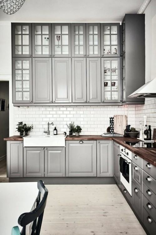 Ikea Small Kitchen Ideas With Nice Green Cabinet And Furniture Table  Popular Design Stainless Modern Innovative