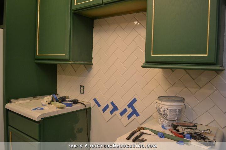 Full Size of White Glass Subway Tile Backsplash With Gray Grout Dark Grey  Herringbone Kitchen Ki