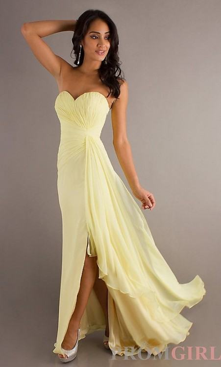 Its a beautiful dress and it fits her like a glove it would really only  need a hem