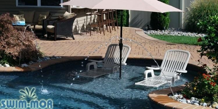 pool designs with sun shelf in residential swimming