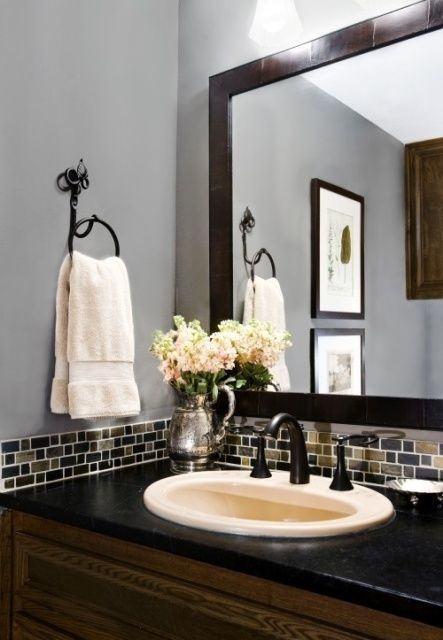 Kitchen Backsplash Thumbnail size Bathroom Backsplash Small Ideas  wainscoting vanity backsplash powder room bathroom tile bathroom